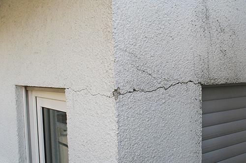 fissures sur les façade